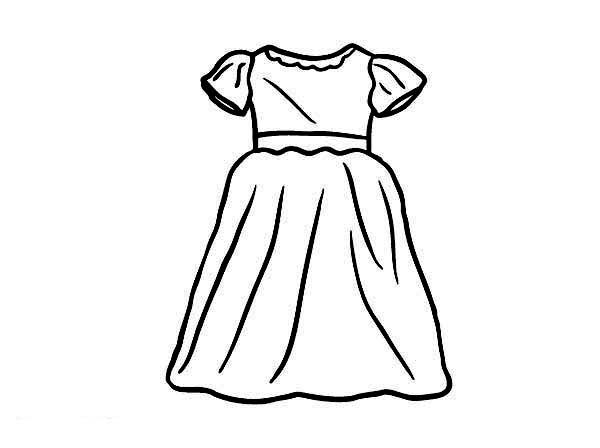 Party Dress For Little Girl Coloring Page Coloring Sun Coloring Pages For Girls Little Girl Dresses Dress Illustration