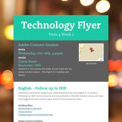 Technology Flyer  Technology Flyers    School