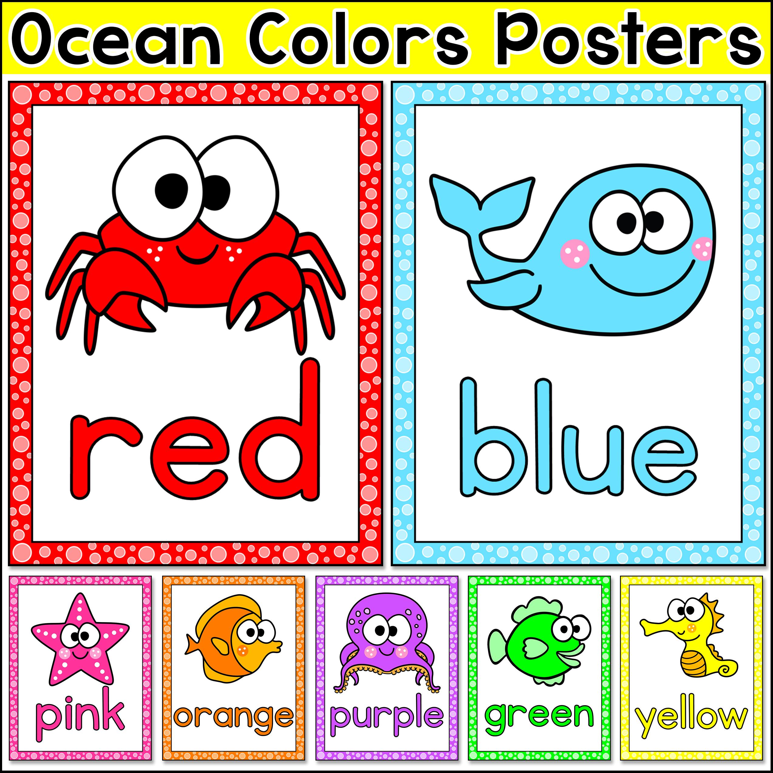 Ocean Theme Colors Posters