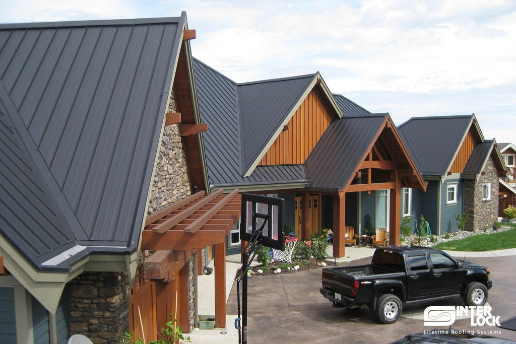 Charcoal Grey Interlock Standing Seam Roof From Campbell