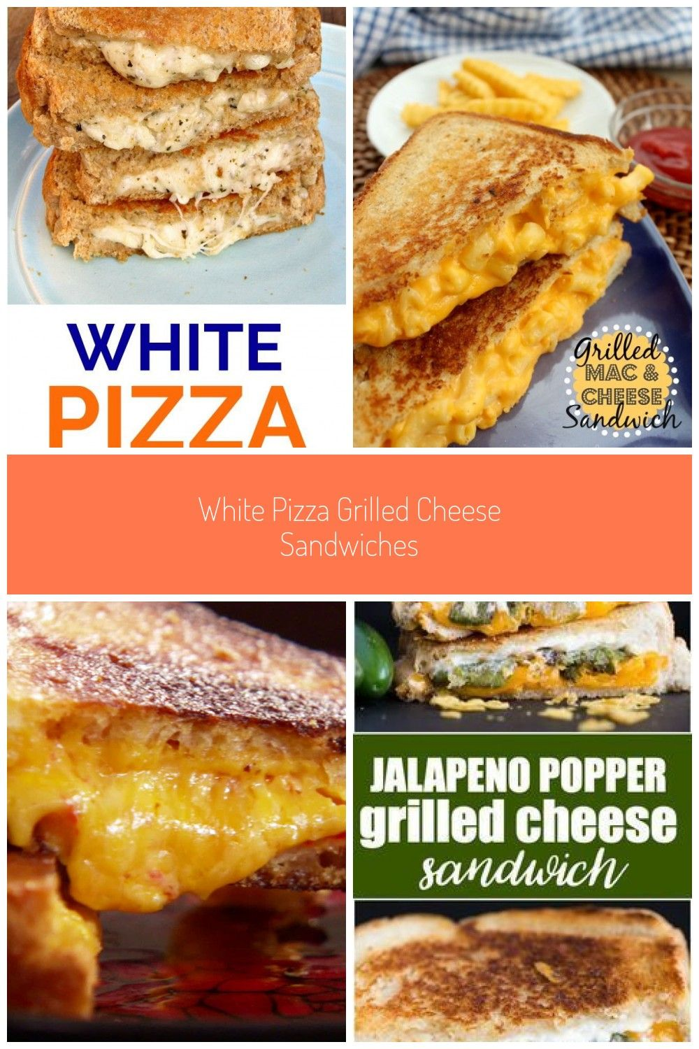 The best grilled cheese sandwich recipe ever!! Loaded with 3 different kinds of cheese, garlic and
