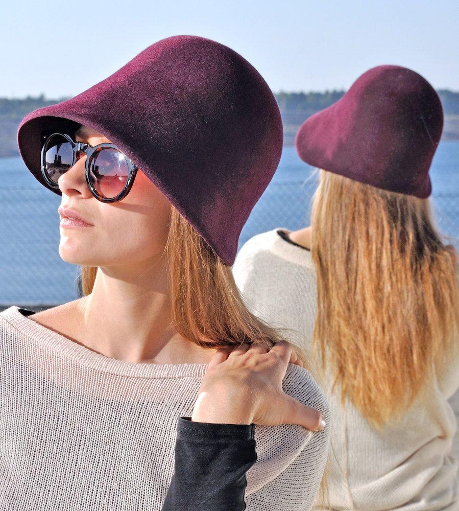 288509359477dd Cloche Ladies Women Felt Hat, elegant, unique, winter, millinery ...