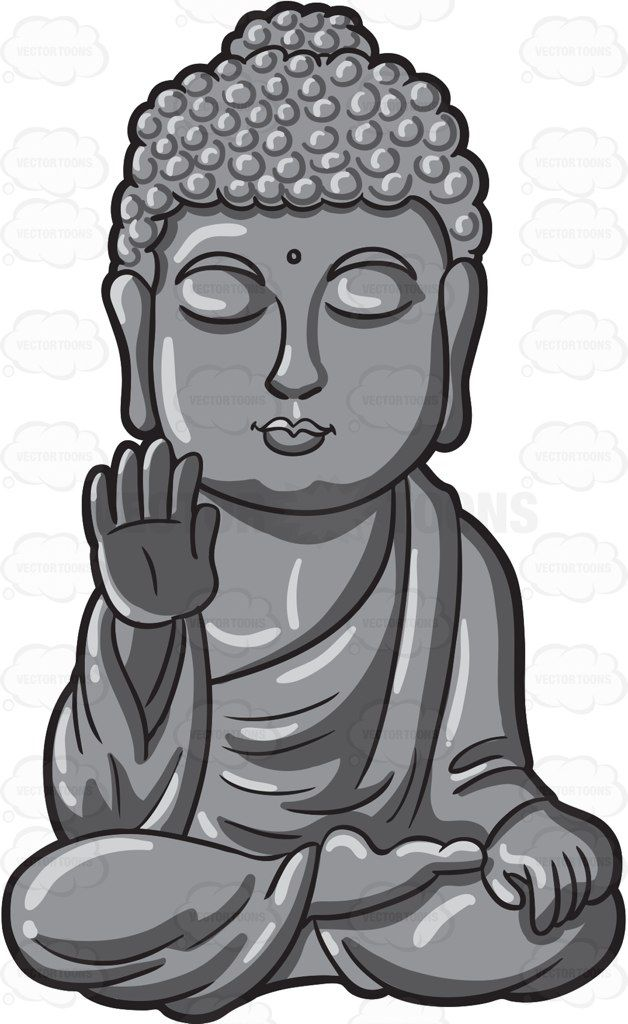 A Silver Buddha Statue | Cartoon, Products and Art