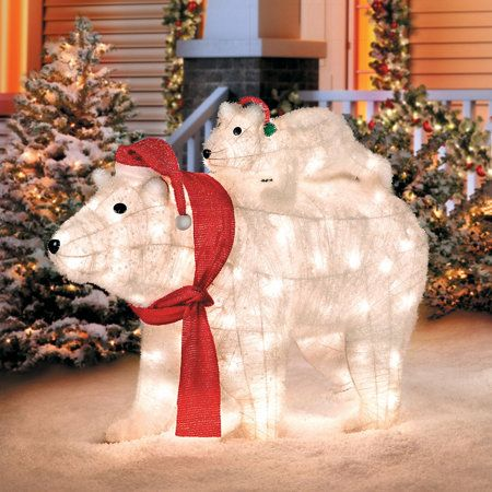 Lighted Polar Bears & Lighted Polar Bears | Christmas Carnival | Pinterest | Polar bear ...