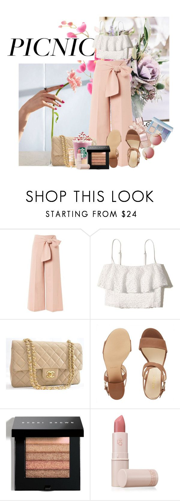 """Picnic In The Park 16 #Contest"" by swagurl2594 ❤ liked on Polyvore featuring Topshop, Hollister Co., Chanel, Nine West, Bobbi Brown Cosmetics and Lipstick Queen"