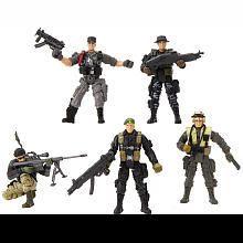 True Heroes 4 Inch Military Soldiers 5 Pack Action Figures Toys