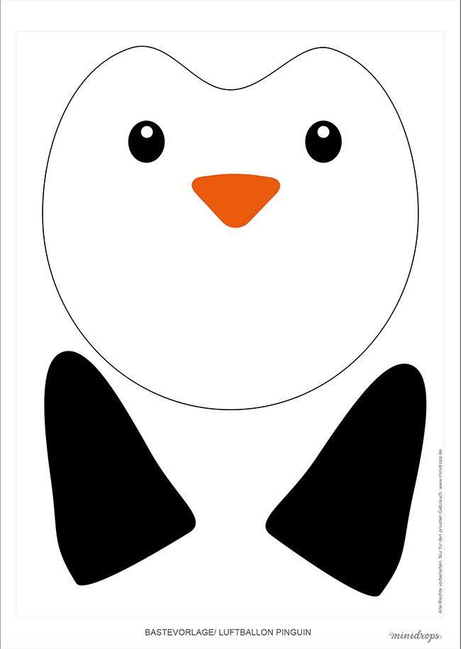 Rentier pinguin und eisb r luftballons selber basteln eisb r pinguin basteln selber - Pinguin basteln vorlage ...
