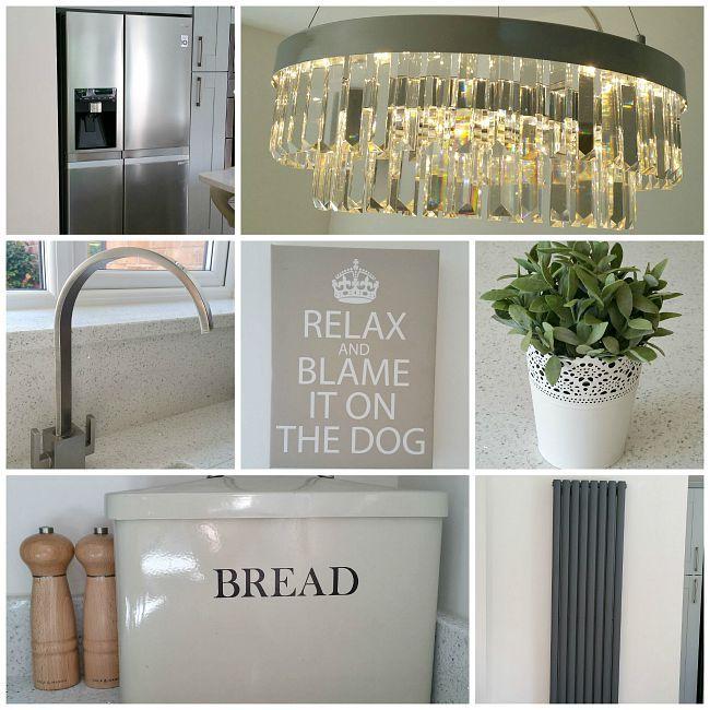 Grey Kitchen Accessories: Modern Kitchen Accessories, Statement Kitchen Light, Grey