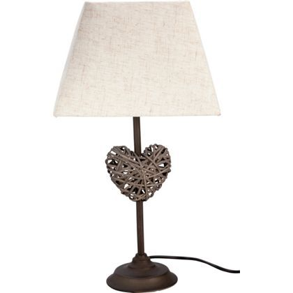 Wicker Heart Table Lamp - Natural at Homebase -- Be inspired and make your  house