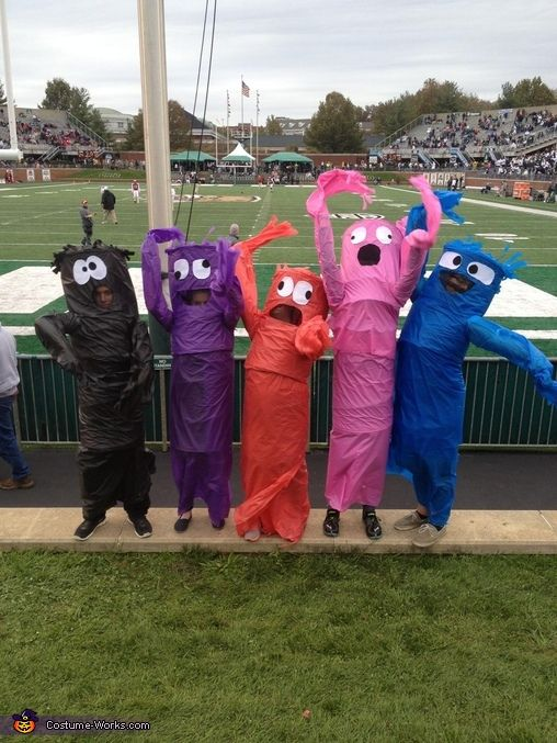 Wacky Waving Inflatable Tube Man Costume Adult Halloween Fancy Dress