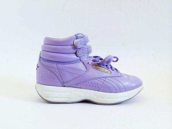 56c9a67688336 Vintage Lilac Purple Reebok High Top Sneakers- 6.5, Womens, Union ...