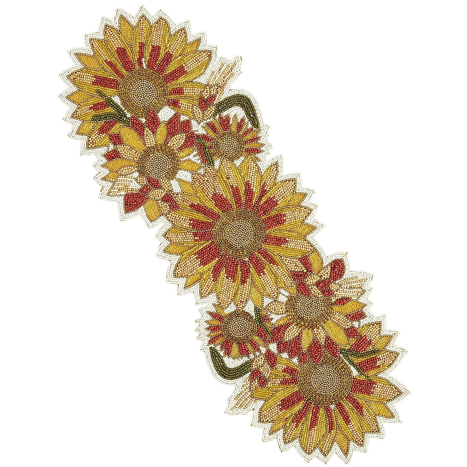 Lovely Our Sunflower Table Runner Blooms Brightly With Extravagant, Handcrafted  Embroidery And Beading.