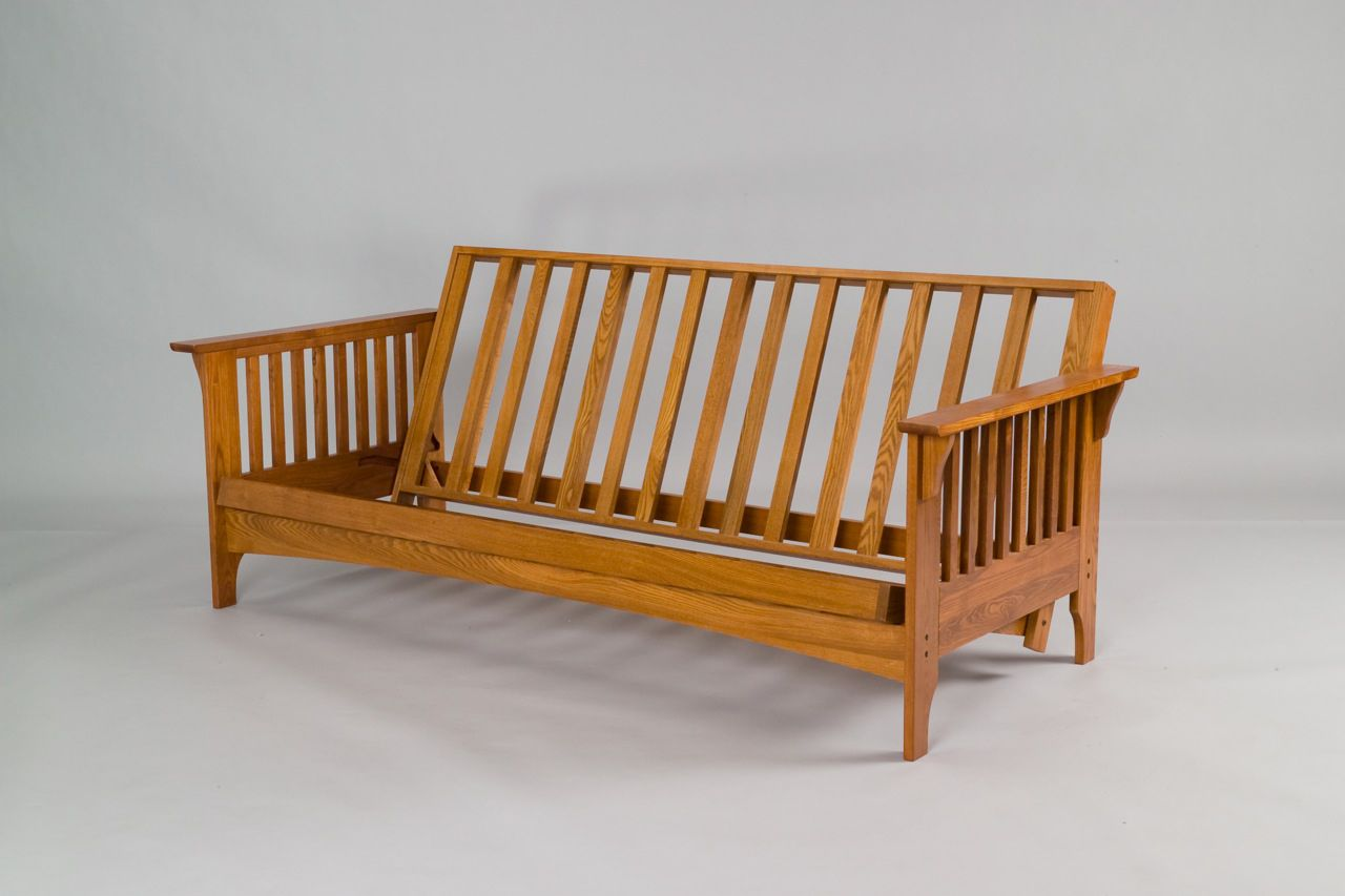 The Boston Cherry Oak Futon Frame Emble Arms And Stretcher Embly 1 Please Read All Instructions Prior To 2 Attach Bars