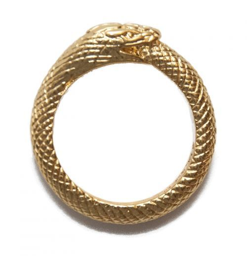 Black Scale 1BS X UVT OUROBOROS RING GOLD Trinkets