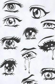 Verschiedene Manga Augen Zeichnen Und Ausmalen Vorlagen