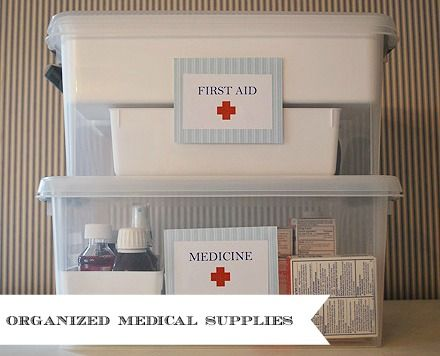 Organizing Life Organizing First Aid And Medicine Safely 11 Magnolia Lane Medical Supply Organization Medicine Organization Storage And Organization
