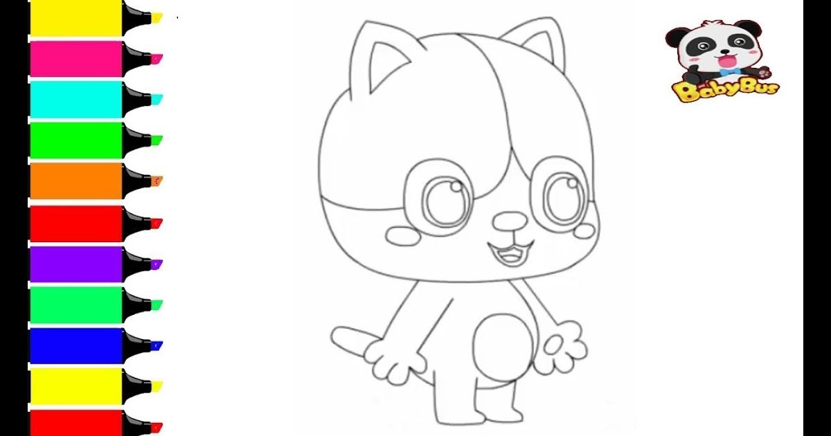 Babybus Drawing For Kids Coloring Baby Kitten Mimi Youtube Drawing For Kids Coloring Baby Bus Kitty Coloring Hello Kitty Colouring Pages Baby Coloring Pages