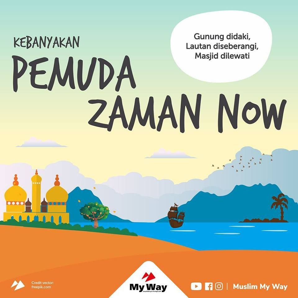 Pemuda Zaman Now Islami Pinterest Islam Islamic And Islamic