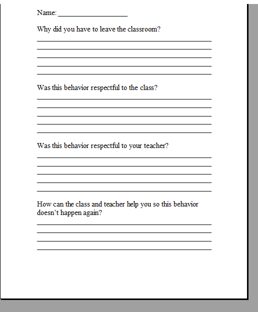 student behavior reflection sheet student behavior reflection  student behavior reflection sheet student behavior reflection sheet