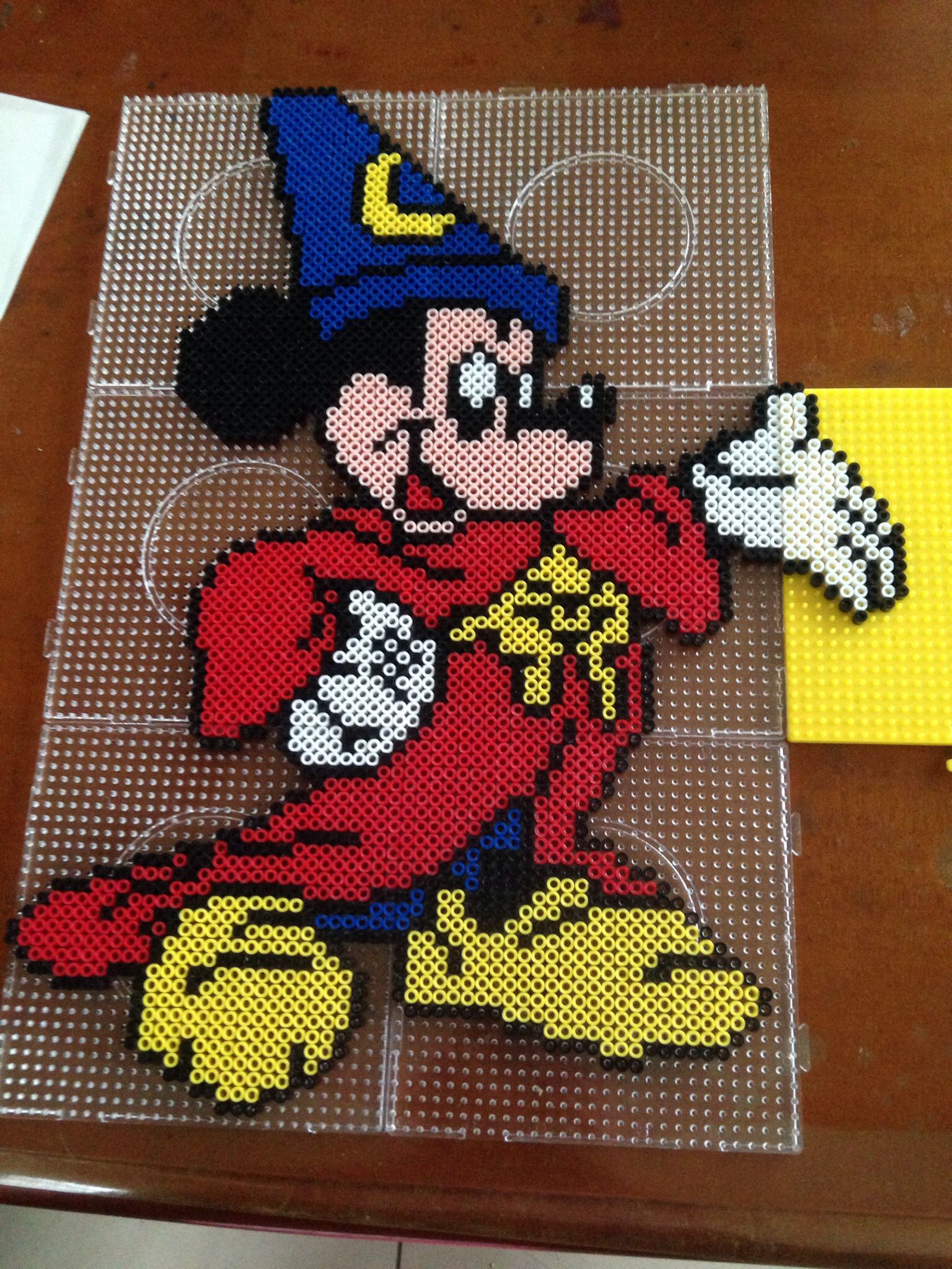 Alfombras Mickey Mouse Mickey Mouse Fantasia Film Perler Beads By Kerry Lee