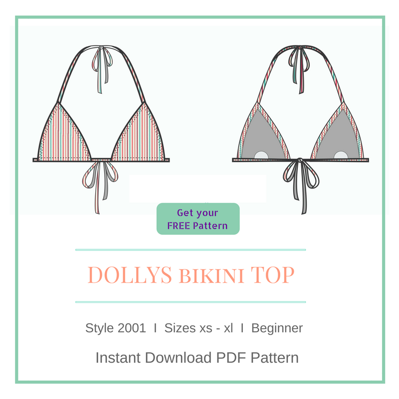 Free Bikini Triangle Top Pattern - How to make it in 8 easy steps ...