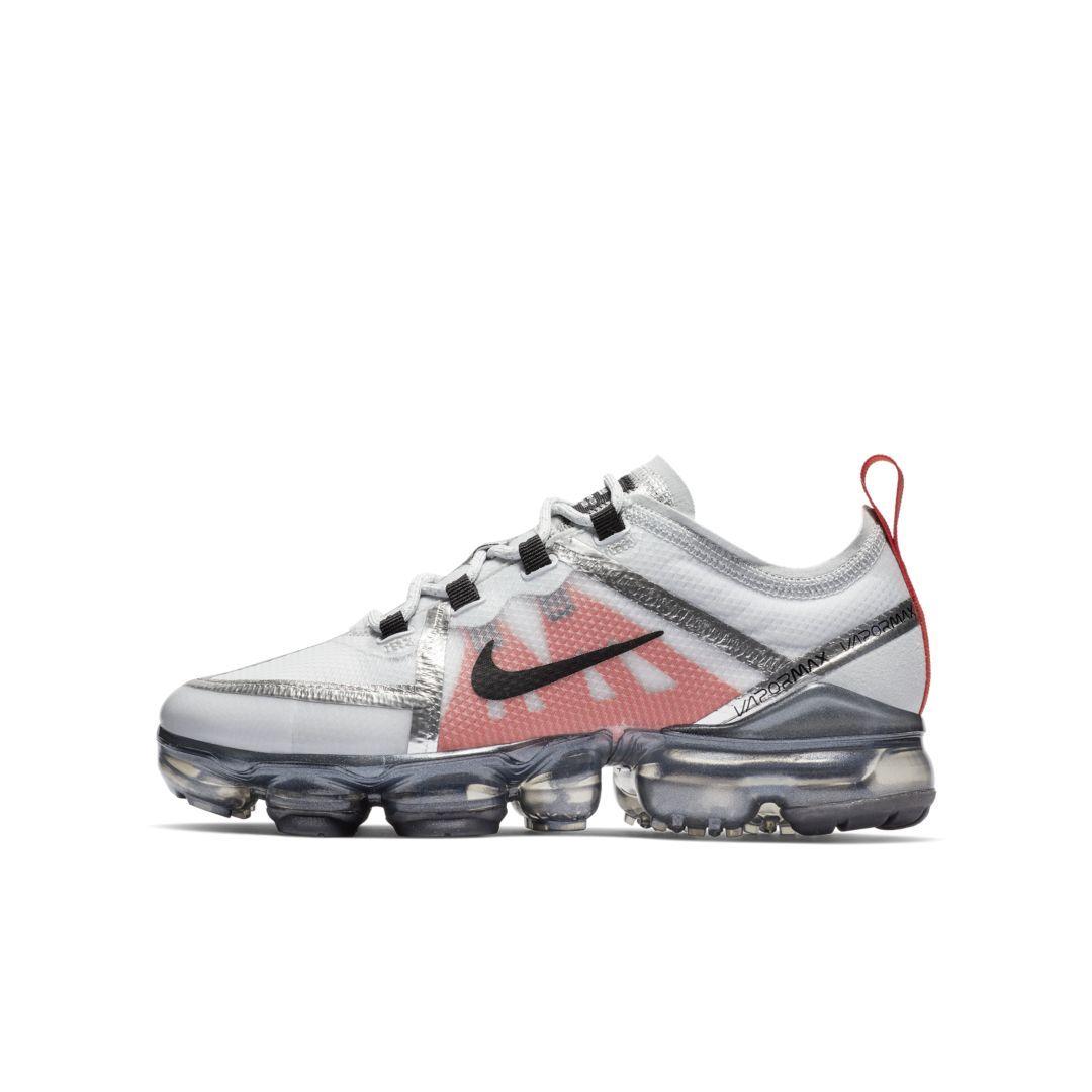 5d51514f94d3 Nike Air VaporMax 2019 Big Kids  Shoe Size 4.5Y (Pure Platinum)