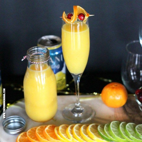 Skinny Mimosa Mocktail recipe- I am totally serving these at the ...
