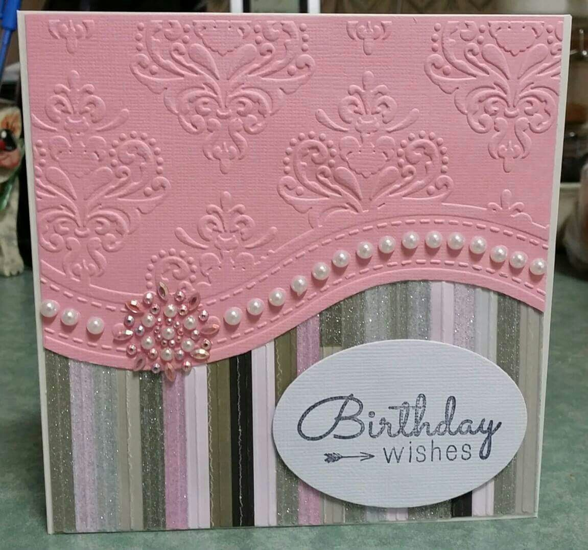 Delightful Card Making Ideas With Embossing Folders Part - 7: All Occasions Embossing Folder Cards