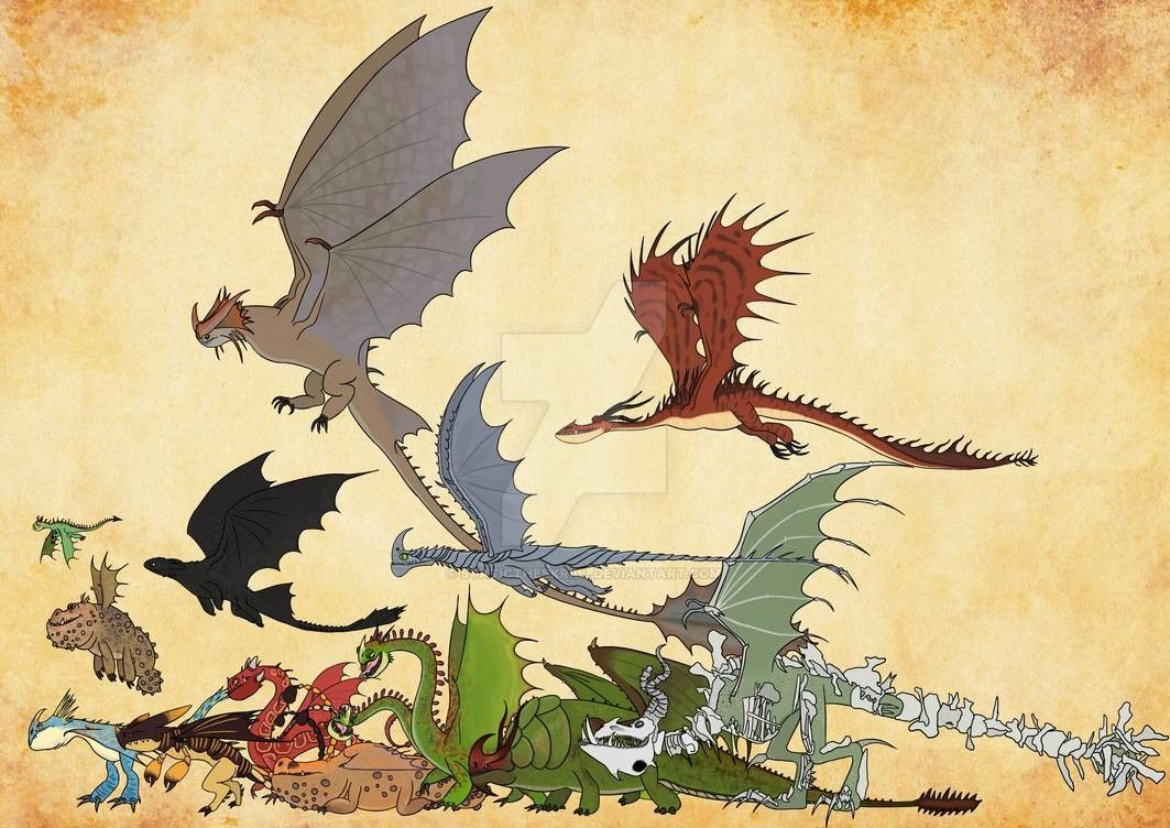 A size chart of all dragons found in School of Dragons [OC ... |Dreamworks Dragons Species