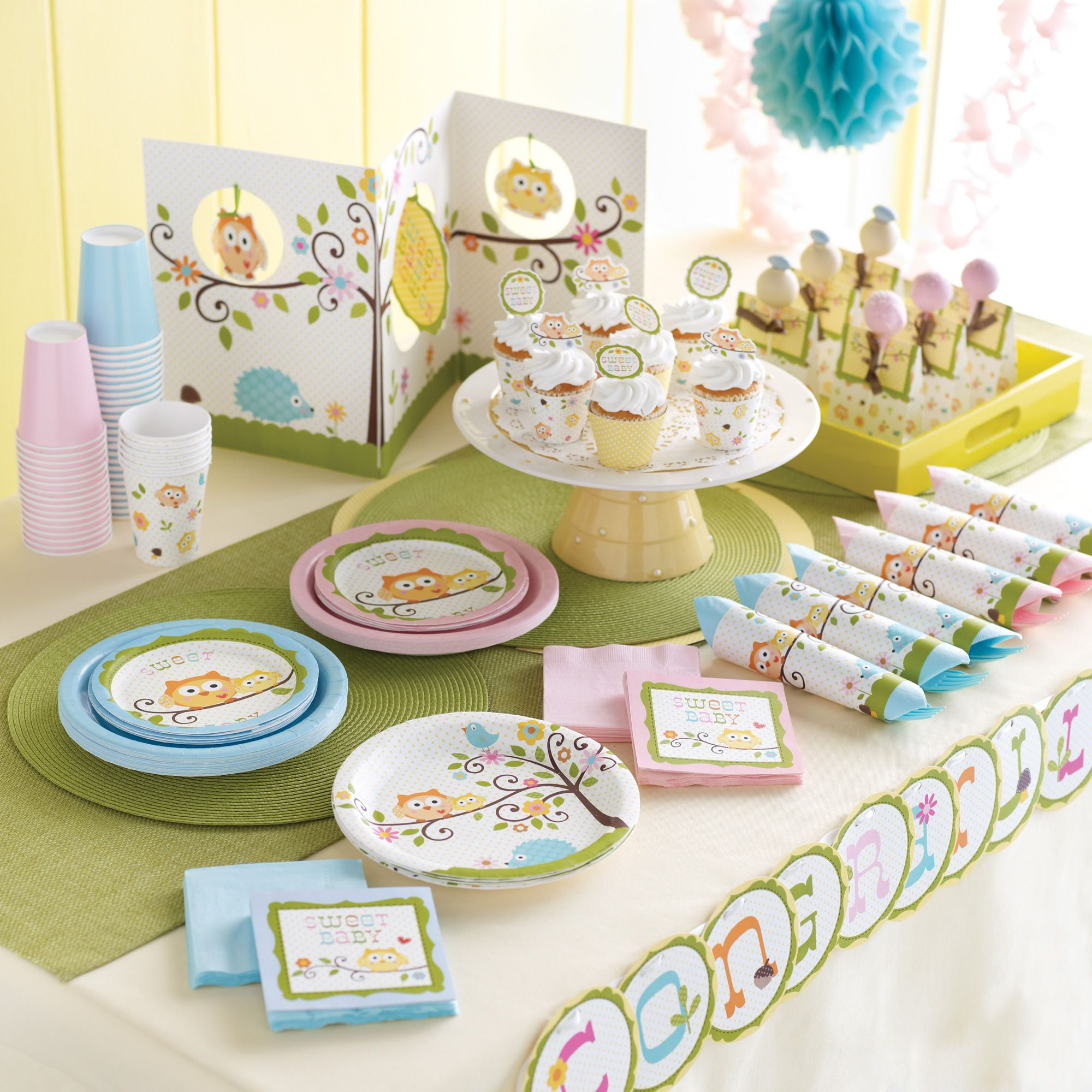 Owl themed baby shower owl themed baby shower kit 40 00 host a whooo has the cutest baby shower decorations with our happi tree baby shower theme featuring the sweetest owl bird and porcupine characters negle Choice Image