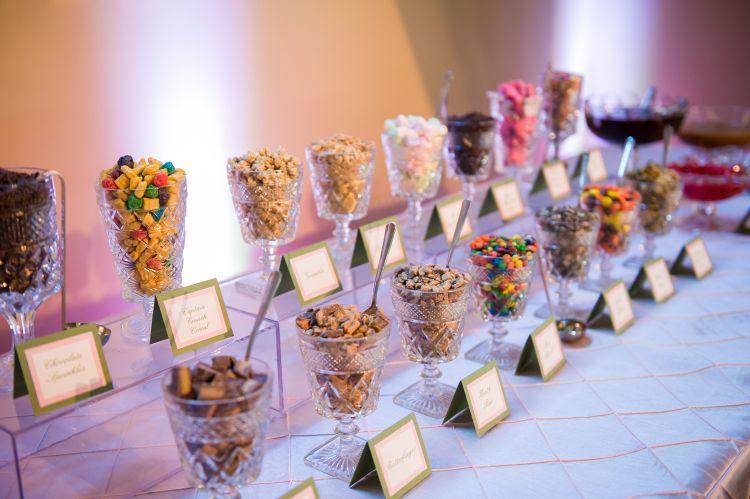 frozen yogurt bar at recent wedding blissfully sweet pdx