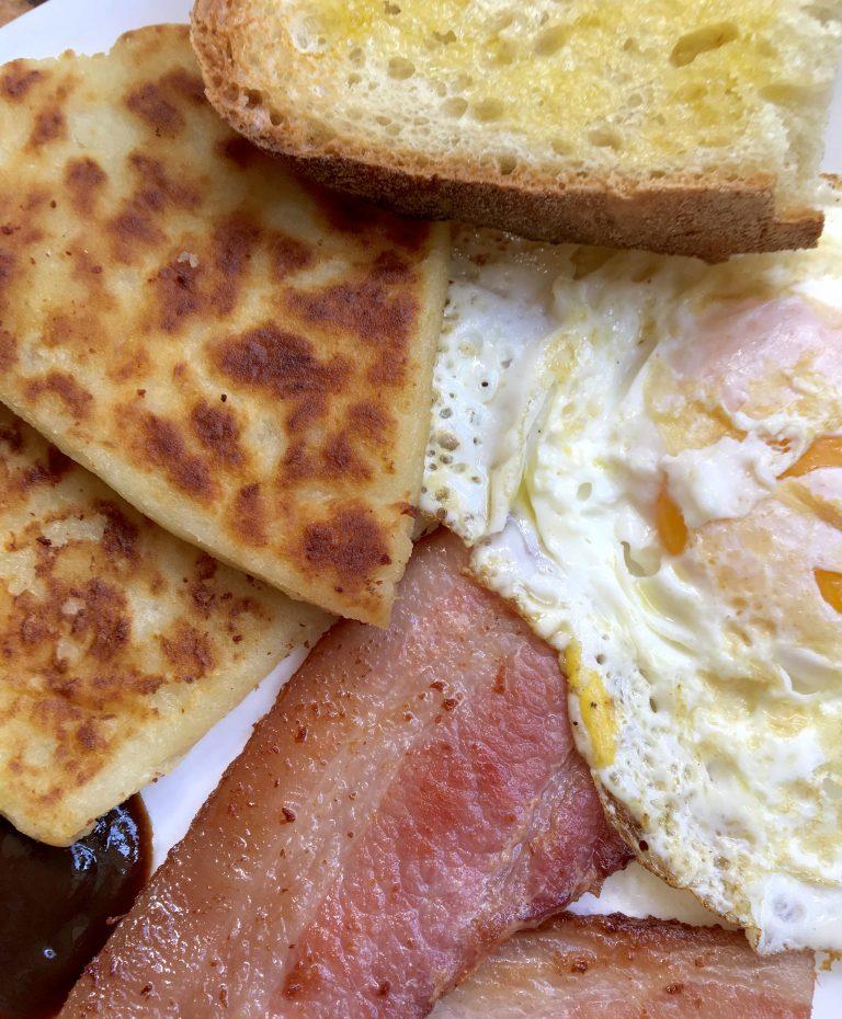 Homemade Full Scottish Breakfast Food: Scottish Potato Scones And British Breakfasts: A Tutorial