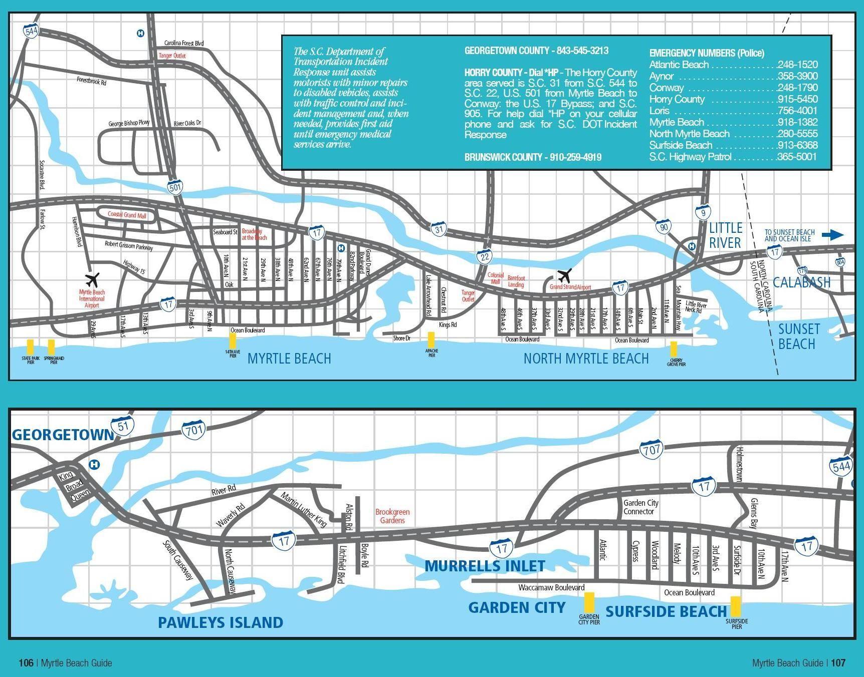 Myrtle Beach Area Map