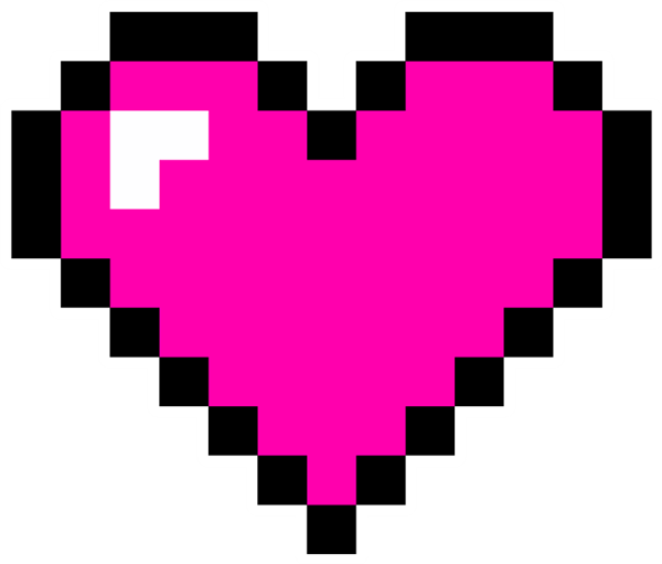 8 bit heart png images the shadow pinterest