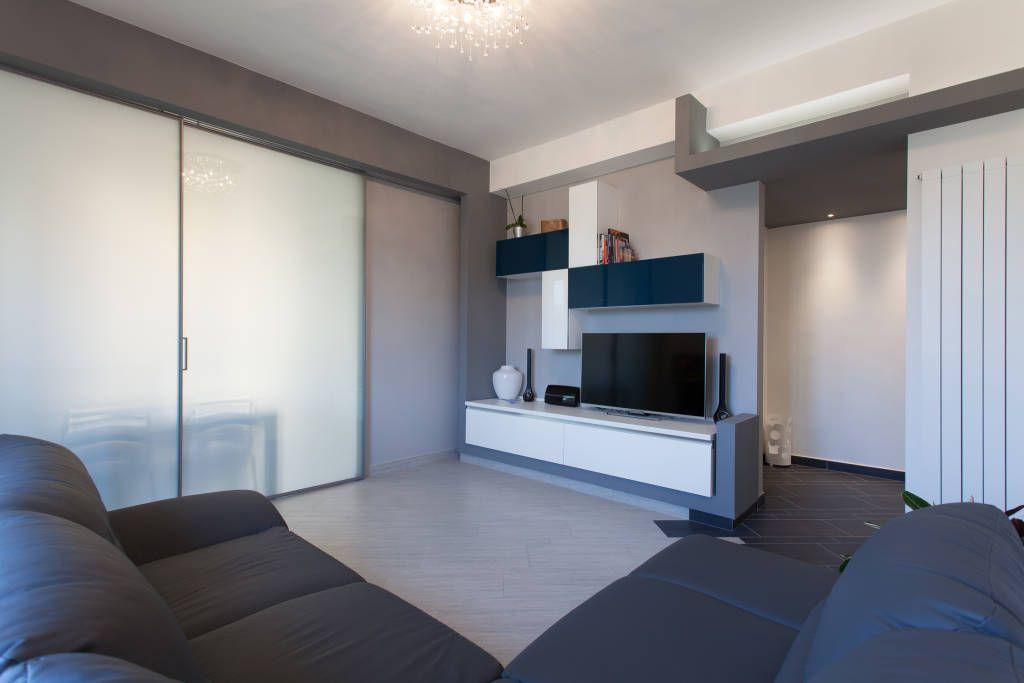 Casa vr soggiorno moderno di fabrizio de rosa architetto ...