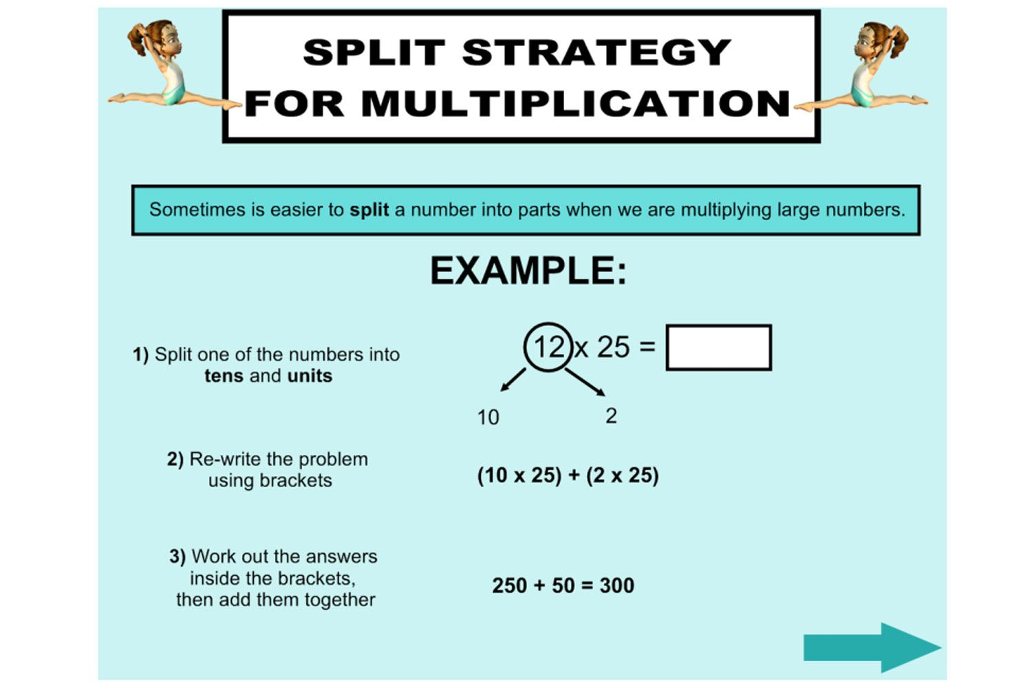 Teach your students how to use the Split Strategy for multiplication ...