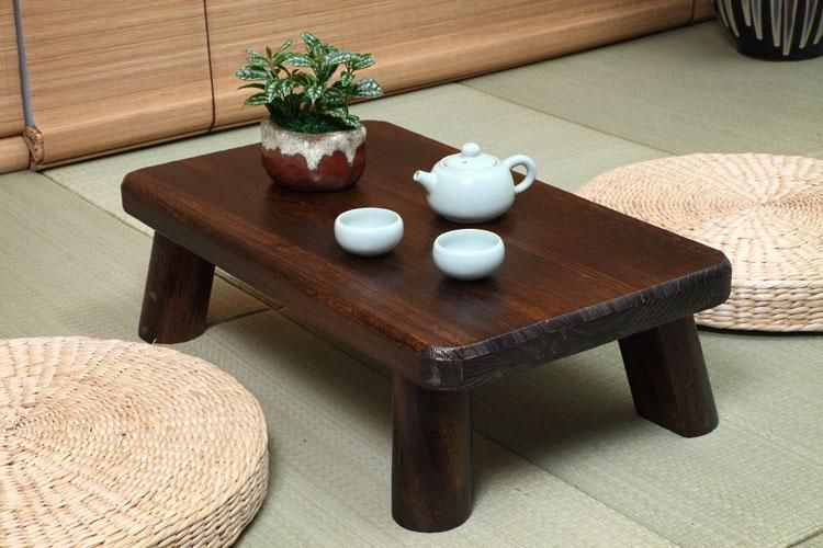 Small Japanese Wood Table Traditional Rectangle 60*35cm ...