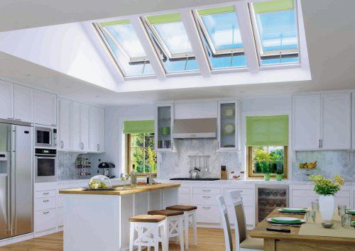Fakro Top Hung Roof Windows Can Be Used In Combination To Create An Atrium Style Roof Flooding Your Kitchen With Light A With Images Attic Rooms Attic Renovation Skylight