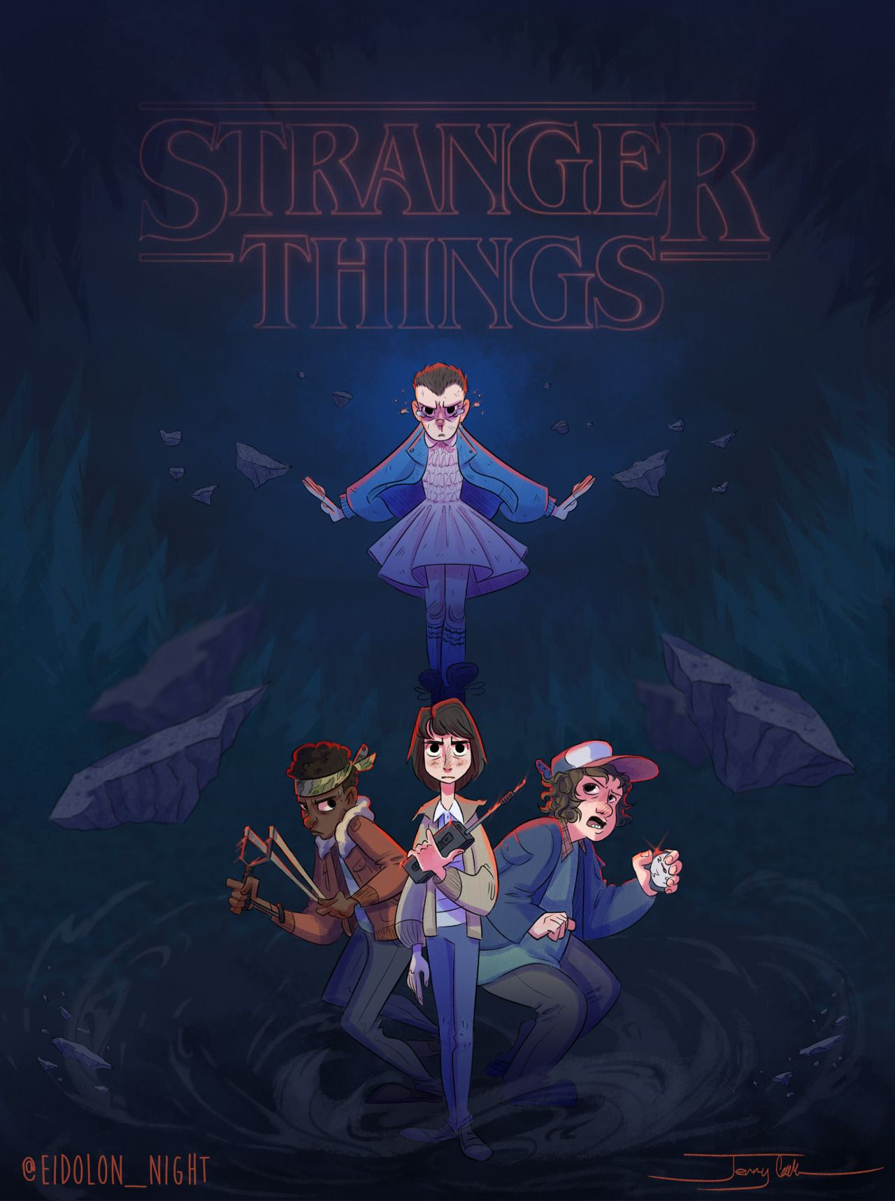 Stranger Things, if it were an animated feature Stranger