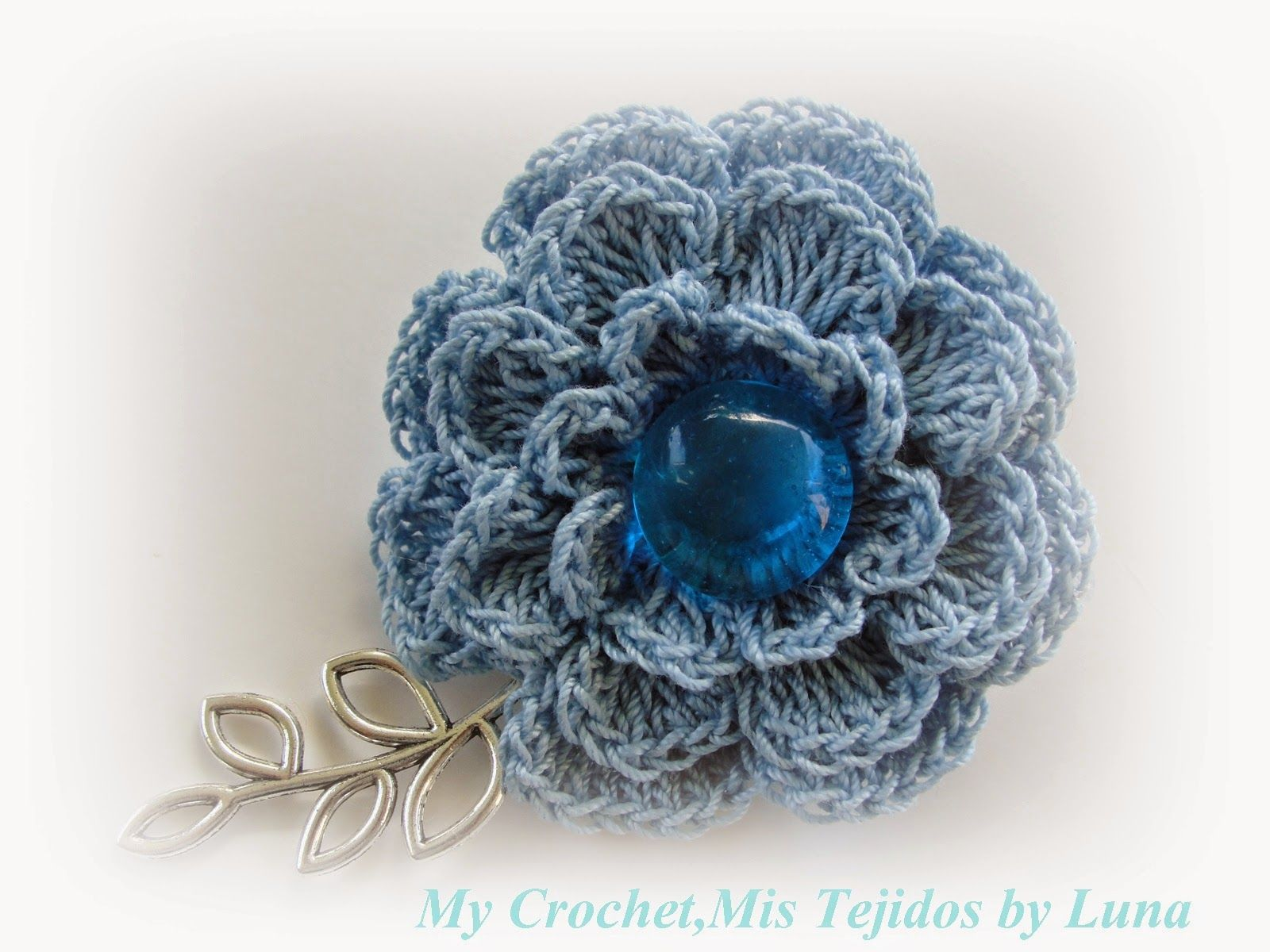 My Crochet , Mis Tejidos by Luna: Brooch , a Mother\'s Day Gift / Un ...