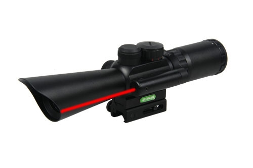 49.23$  Buy here - http://ali5y0.shopchina.info/go.php?t=1153606623 - New Tactical 3.5-10x40 Rifle Scope With Red Laser Light  For Hunting CL1-0189  #buymethat
