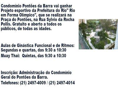"""Jornalista Denise Machado: Condomínio Pontões da Barra ganhará Projeto """"Rio e..."""