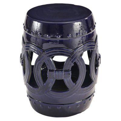 Abbyson Danika Ceramic Garden Stool Sp 52701 Navy