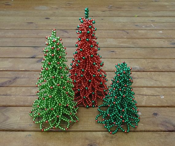 Christmas Tree Tutorial Christmas Decor Beaded Christmas Tree PDF Format - Chritmas Tree Beading Pattern Christmas Tree Tutorial Beading