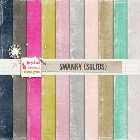 Swanky {solids} - 20% off! :) by Joyful Heart Designs on Creative Market