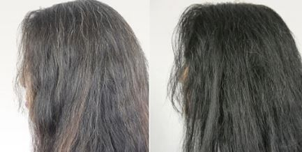 Proof of using unsulphured blackstrap molasses to reverse grey hair
