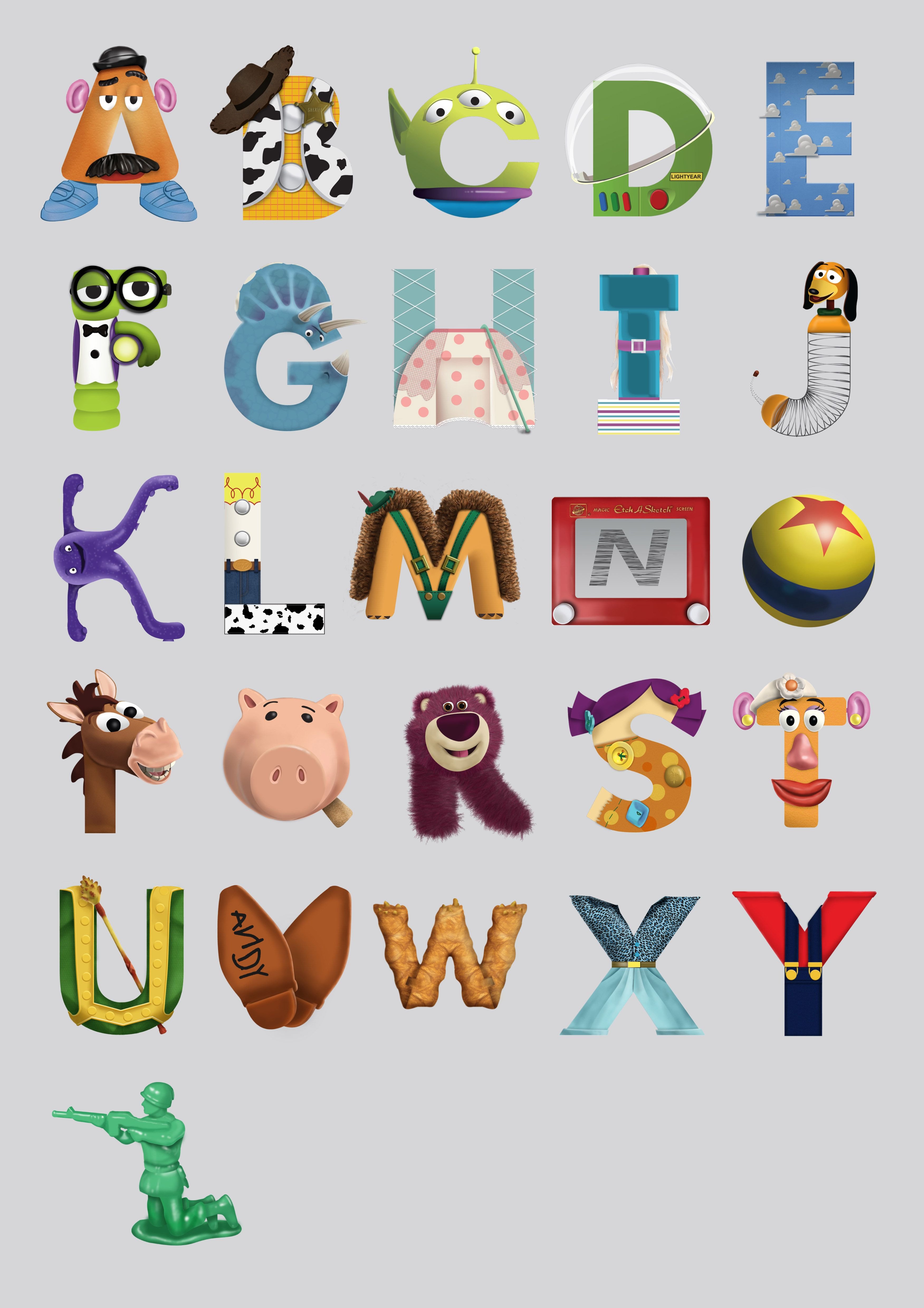 Toy story disney character alphabet letters disney toy story lettre a et f tes disney - Lettre disney ...