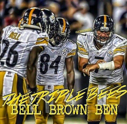 """Le'Veon Bell, Antonio Brown & """"Big Ben"""" are great team ..."""