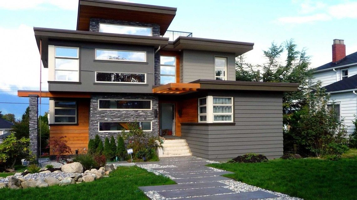 Magnificent Nice Grey Nuance Of The Exterior Paint Color For Modern Download Free Architecture Designs Terchretrmadebymaigaardcom