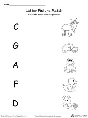 uppercase beginning letter sound a c d f g homeschool preschool preschool worksheets. Black Bedroom Furniture Sets. Home Design Ideas